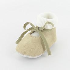 Achat Chaussons & Chaussures Chaussons avec Chaussette Delicatou 6/12 mois - Beige