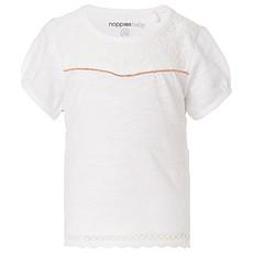 Achat Hauts bébé Tee-shirt Manches Courtes Brodé Blanc MYA  - 1 Mois