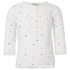 Achat Hauts bébé Tee-Shirt Manches 3/4 Blanc à Pois PIPA - 12 mois