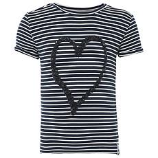 Achat Hauts bébé Tee-shirt Manches Courtes Marine et Coeur à Paillettes PIPA  - 12 Mois