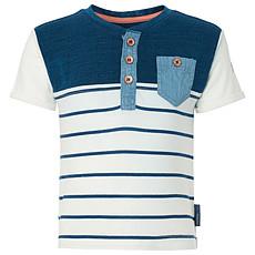 Achat Hauts bébé Tee-shirt Manches Courtes à Rayures Marine ROB - 24 mois