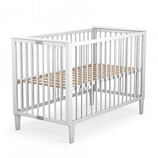 Achat Lit bébé Lit Pliant Hêtre Massif 60 x 120 - Blanc