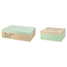 Achat Boite & Sac Boites de Rangement - Bois / Mint / Jaune
