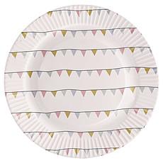 Achat Vaisselle & Couvert Assiettes en Carton - Fanions (pack de 8)