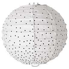 Achat Suspension  décorative Suspension en Papier ø 20 cm - Blanc à Pois