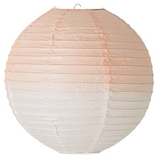 Achat Suspension  décorative Suspension Luminaire en Papier ø 25 cm - Dip Dye Blanc/Rose