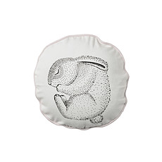 """Achat Coussin Coussin Rond """"Sleeping Rabbit"""" - Blanc/Rose"""