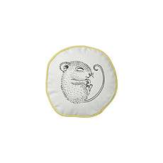 """Achat Coussin Coussin Rond """"Sleeping Mouse"""" - Blanc/Jaune"""
