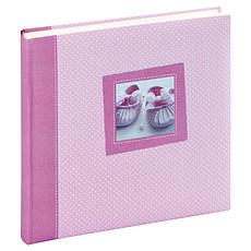 """Achat Album naissance Album Photo Traditionnel 60 Pages """"Tilou"""" - Rose / Blanc"""