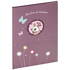 """Achat Album naissance Livre de Naissance """"Foxy"""" A4 - Violet"""