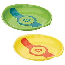 Achat Vaisselle & Couvert Pack de 2 Assiettes Thermosensibles - jaune/vert