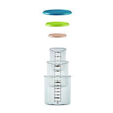 Achat Vaisselle & Couvert Coffret 3 Portions 150 ml + 300 ml + 500 ml Blue/Néon/Nude
