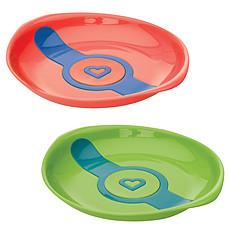 Achat Vaisselle & Couvert Pack de 2 Assiettes Thermosensibles - orange/vert