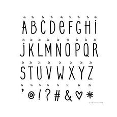 Achat Objet décoration Set de Lettres Manuscrites pour Lightbox