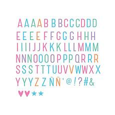 Achat Objet décoration Set de 85 Lettres Pastel pour Lightbox
