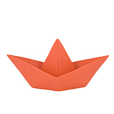 "Achat Lampe à poser Lampe ""Origami boat"" - rouge"