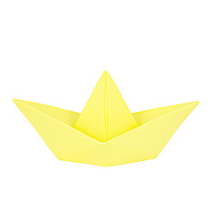 "Achat Lampe à poser Lampe ""Origami boat"" - jaune"