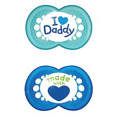 Achat Sucette Lot de 2 Sucettes 6+ mois Daddy Bleu