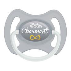 Achat Sucette Sucette 0-6 mois Mister Charmant avec Anneau Gris