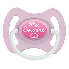 Achat Sucette Sucette 0-6 mois Miss Sourire avec Anneau Rose