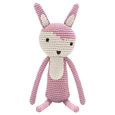 Achat Peluche Lapin en Crochet Rose Vintage