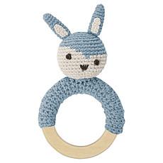 Achat Hochet Hochet Lapin en Crochet - Bleu