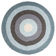 Achat Tapis Tapis en Crochet - Bleu et gris