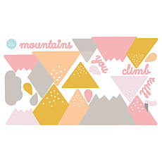 Achat Sticker Stickers Montagnes - Rose