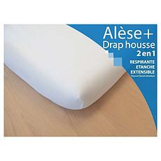 Achat Linge de lit Alèse Drap-Housse 2 en 1 - 60 x 120 cm
