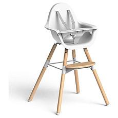 Achat Chaise haute Chaise-haute Evolu 2 Pack Complet - Blanc/Pieds Bois