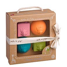 Achat Mes premiers jouets Set 2 balles + 2 cubes So'Pure Sophie la Girafe