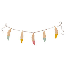 Achat Objet décoration Guirlande Feathers Pure Line - rose/jaune/vert