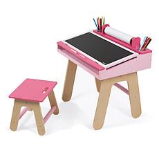 Achat Table & Chaise Bureau d'Ecolier - Rose