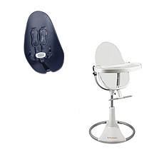 Achat Chaise haute Chaise-Haute Fresco Blanche + Assise Bleu Marine