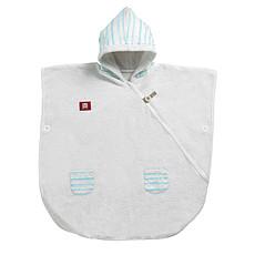 Achat Textile Poncho - Bleu poudré/Blanc