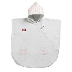 Achat Textile Poncho - Rose poudré/Blanc