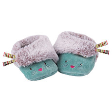 "Achat Chaussons & Chaussettes Chaussons Chats Bleus ""Les Pachats"""