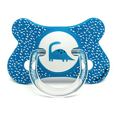 Achat Sucette Sucette Fusion Physio Silicone Dino 4/18 mois Bleu Total Look