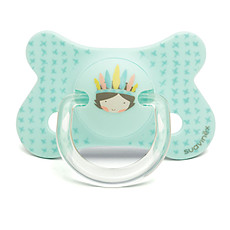 Achat Succion Sucette Fusion Physio Silicone Indien Total Look - 4/18 mois - Turquoise