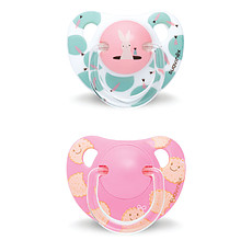 Achat Sucette Lot de 2 Sucettes Physio Silicone Bunny & Biscuit +18 mois Rose Total Look