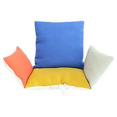 Achat Chaise haute Assise Chaise Haute en Lin - Multicolore