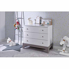 Achat Commode Commode 3 Tiroirs Paris Blanc/Lin