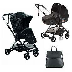 Achat Poussette combinée Poussette Duo Minnum + Matrix Light 2 - Black Stars