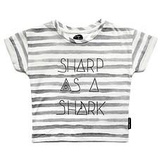"""Achat Hauts bébé T-shirt à rayures """"Sharp as a Shark"""" - 3/6 mois"""