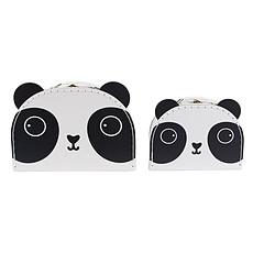 Achat Rangement Set de 2 Valisettes Déco Aiko Panda Kawaii