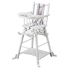 Achat Chaise haute Chaise Haute à Barreaux Transformable Marcel - Blanc