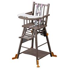 Achat Chaise haute Chaise-Haute à Barreaux / Transformable Marcel - laqué taupe
