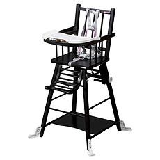 Achat Chaise haute Chaise-Haute à Barreaux / Transformable Marcel - laqué noir