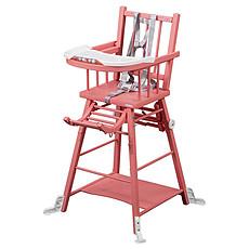 Achat Chaise haute Chaise-Haute à Barreaux / Transformable Marcel - laqué rose