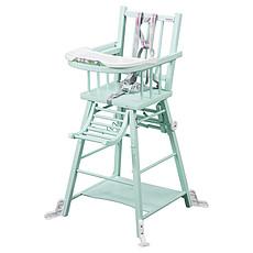 Achat Chaise haute Chaise-Haute à Barreaux / Transformable Marcel - laqué vert mint